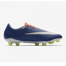 Chaussures de football Nike Hypervenom Phelon Iii Fg M 852556-409 orange noir, violet, orange 3
