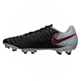 Chaussures de football Nike Tiempo Ligera Iv Fg M 897744-004 noir noir, gris / argent 1