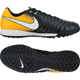 Chaussures de football Nike TiempoX Liger Iv Tf M 897766-008 noir, jaune noir 2