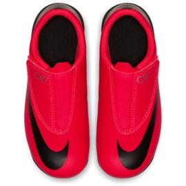 Nike Mercurial Vapor 12 Club Chaussures Ps V CR7 Mg Jr AJ3096-600 noir, rouge rouge 2
