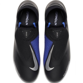 Chaussures de football Nike Phantom Academy Df M FG / MG AO3258-004 noir noir, bleu 1