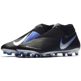 Chaussures de football Nike Phantom Academy Df M FG / MG AO3258-004 noir noir, bleu 3