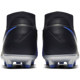 Chaussures de football Nike Phantom Academy Df M FG / MG AO3258-004 noir noir, bleu 4