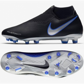 Chaussures de football Nike Phantom Academy Df M FG / MG AO3258-004 noir noir, bleu 7