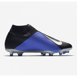 Chaussures de football Nike Phantom Academy Df M FG / MG AO3258-004 noir noir, bleu 10