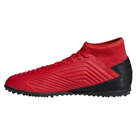 Chaussures de foot adidas Predator 19.3 Tf Jr CM8547 rouge rouge 1
