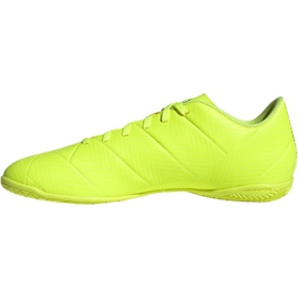 Chaussures Indoor adidas Nemeziz 18.4 In M BB9469 jaune jaune 2
