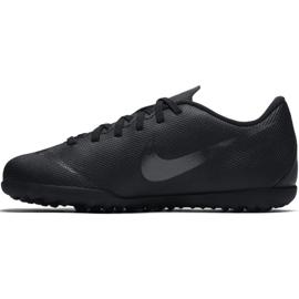 Chaussures de football Nike Mercurial Vapor X 12 Club Tf Jr AH7355-001 noir bleu marine, noir 1