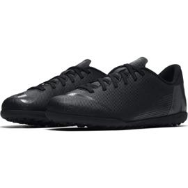 Chaussures de football Nike Mercurial Vapor X 12 Club Tf Jr AH7355-001 noir bleu marine, noir 6