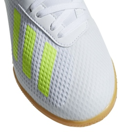 Chaussures Indoor adidas X 18.3 In Jr BB9397 blanc blanc, jaune 3