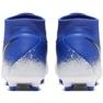Chaussures de football Nike Phantom Academy DF FG / MG M AO3258-410 bleu blanc, bleu 4