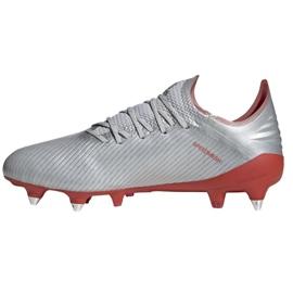 Chaussures de foot adidas X 19.1 Sg M F35311 argent rouge, gris / argent 1