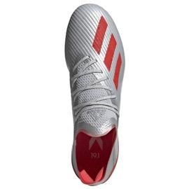 Chaussures de foot adidas X 19.1 Sg M F35311 argent rouge, gris / argent 2