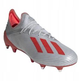 Chaussures de foot adidas X 19.1 Sg M F35311 argent rouge, gris / argent 3