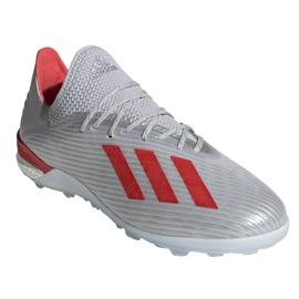 Chaussures de foot adidas X 19.1 Tf M G25752 multicolore argent 3