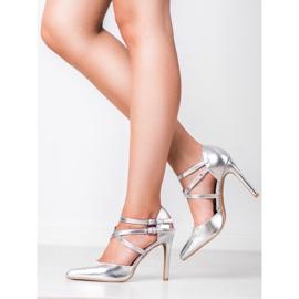 Kylie Goujons de mode brillants gris 7