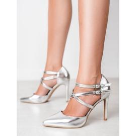 Kylie Goujons de mode brillants gris 2