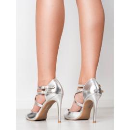 Kylie Goujons de mode brillants gris 6