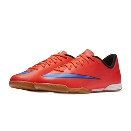 Chaussures de football Nike Mercurial Vortex Ii Ic Jr 651643-650 rouge rouge 4