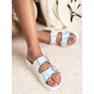 Ideal Shoes Pantoufles avec boucle holo gris 3