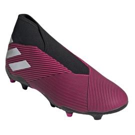 Chaussures de football Adidas Nemeziz 19.3 Ll Fg M EF0372 multicolore rose 3