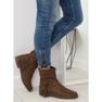 Chaussures pour femmes brunes 4169 Kaki image 5