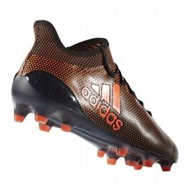 Adidas X 17.1 Fg M S82288 chaussures noir et rouge noir, rouge 1