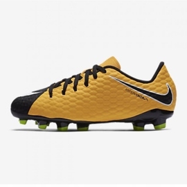 Nike Hypervenom Phelon Iii Fg Jr 852595 801 jaune chaussures 1
