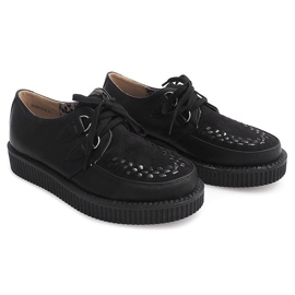 Bottes Creepers On Platform 061ss Noir 1