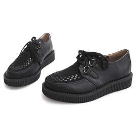 Bottes Creepers On Platform 061ss Noir 2