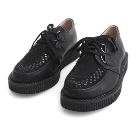 Bottes Creepers On Platform 061ss Noir 3