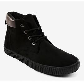 Sneakers noires isolées AN06 pour hommes 1