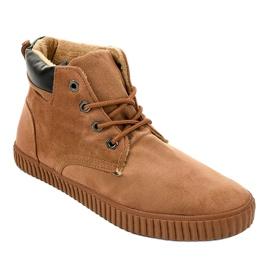 Sneakers homme isolés marron AN06 brun 1