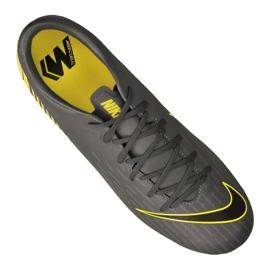Chaussures de football Nike Mercurial Vapor 12 Academy Sg Pro Fg M AH7376-070 noir noir, jaune 3