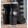 J. Star Bottes confortables en cuir écologique noir 3