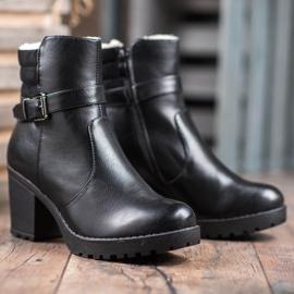 J. Star Bottes confortables en cuir écologique noir 5