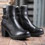 J. Star Bottes confortables en cuir écologique noir 4