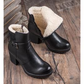 J. Star Bottes confortables en cuir écologique noir 7