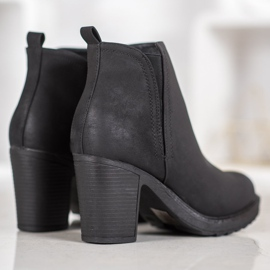Goodin Bottines en textile noir 3