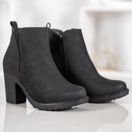 Goodin Bottines en textile noir 4