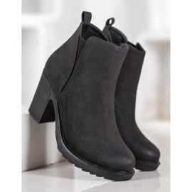 Goodin Bottines en textile noir 5