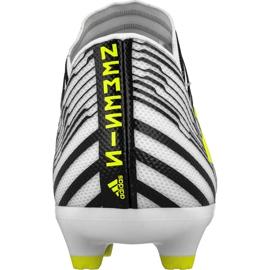 Chaussures de foot adidas Nemeziz 17.3 Fg M S80599 blanc, noir blanc 2