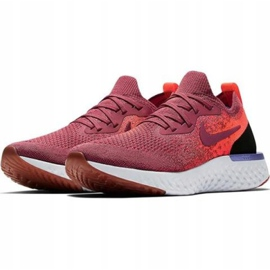 Nike Epic React Flyknit W AQ0070 601 chaussures de course rouge 1