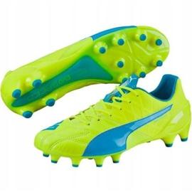 Puma Evo Speed 1.4 Lth Fg M 103615 03 chaussure de football jaune jaune 1