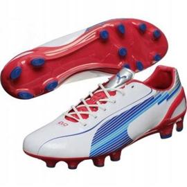 Puma Evo Speed 1 Fg M 102527 01 chaussure de football blanc blanc 1