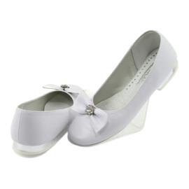 Escarpins ballerines de communion blanches Miko 800 4