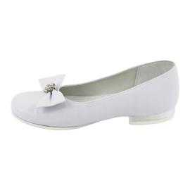 Escarpins ballerines de communion blanches Miko 800 2