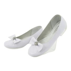 Escarpins ballerines de communion blanches Miko 800 3