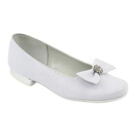 Escarpins ballerines de communion blanches Miko 800 1