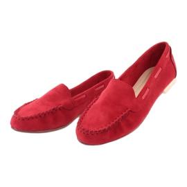 Mocassins en daim femme Sergio Leone 722 rouge 3